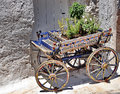 Cart with flowers Royalty Free Stock Photo
