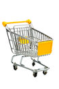 Cart in front of a white background Royalty Free Stock Images