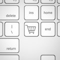 Cart icon on keyboard key Royalty Free Stock Photo