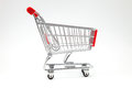 The cart s supermarket on white background Stock Photography