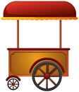Cart stall illustration of a on a white background Stock Images