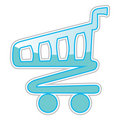 Cart sticker Stock Photography