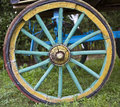 The cart wheel a view from of a Royalty Free Stock Photography