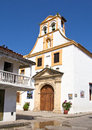 Cartagena church in the old town of Royalty Free Stock Image