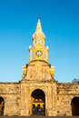 Cartagena Clock Tower Gate Royalty Free Stock Photo