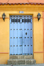 Cartagena de Indias Doorway Stock Photography
