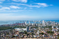 Cartagena panorama panoramic view of the modern section of colombia Royalty Free Stock Photo