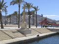 Cartagena port area palm trees in the in spain Stock Photography