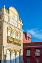Cartagena theater fassade Stockbilder