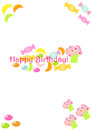 Carte d'anniversaire de sucrerie Photos stock
