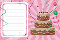 Carte d'invitation d'anniversaire - fille Photos libres de droits