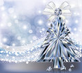 Carte d invitation d arbre de diamond christmas Photographie stock