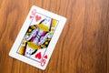 Carte da gioco regina dei cuori Immagine Stock Libera da Diritti