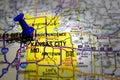 Carte de Kansas City Image libre de droits