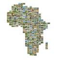 Carte de l afrique avec des photos Photos stock