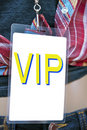 Carte des coulisses de passage de VIP Photographie stock libre de droits