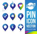 Carte pin icons Images stock