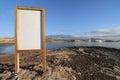Cartel near the atlantic ocean el medano tenerife spain Royalty Free Stock Images