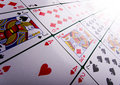 Cartes de jeu dans le casino Photo stock