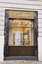 Cartier window display elegant of the store in berlin it belongs to swiss group richemont world s third largest luxury goods group Royalty Free Stock Images