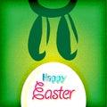 Cartolina d'auguri felice di pasqua, uova del coniglietto Immagine Stock