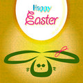 Cartolina d'auguri felice di pasqua, uova del coniglietto Fotografie Stock Libere da Diritti