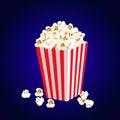 Carton bowl full of popcorn Royalty Free Stock Photo