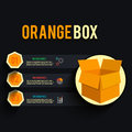 Carton box in flat design Stock Photos