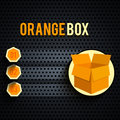 Carton box in flat design Royalty Free Stock Images