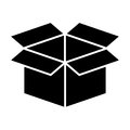 Carton box packing icon