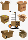 Carton boxes collection Royalty Free Stock Photo