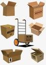 Carton boxes collection Royalty Free Stock Photo