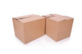 Carton boxes isolated on the white background Stock Images