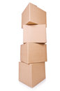 Carton boxes isolated on the white background Royalty Free Stock Photo