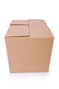 Carton boxes isolated on the white background Stock Photography
