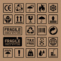 Carton Cardboard Box Icons. Royalty Free Stock Photo