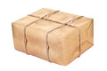 Carton parcel isolated on a white background Royalty Free Stock Photography