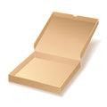Carton pizza box on white background Royalty Free Stock Photos