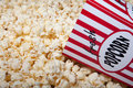 Carton of Popcorn Stock Image