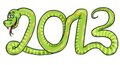 Cartoon 2013 Snake Stock Photos