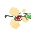 Cartoon 3D glasses Royalty Free Stock Image