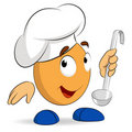 Cartoon abstract cute character cook chef Stock Photo