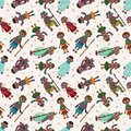 Cartoon Africa Indigenous seamless pattern Royalty Free Stock Images
