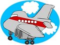 Cartoon Airliner Royalty Free Stock Images