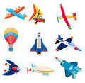 Cartoon airplane icon Stock Photography