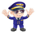 Cartoon airplane pilot Royalty Free Stock Photo