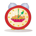 Cartoon alarm clock vector Stock Images