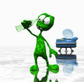 Cartoon alien Royalty Free Stock Photos