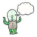 Cartoon alien creature Royalty Free Stock Image