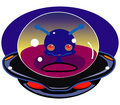 Cartoon alien spaceship Royalty Free Stock Images